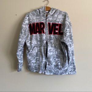 Universal Studios Marvel Comic Zip Up Sweatshirt